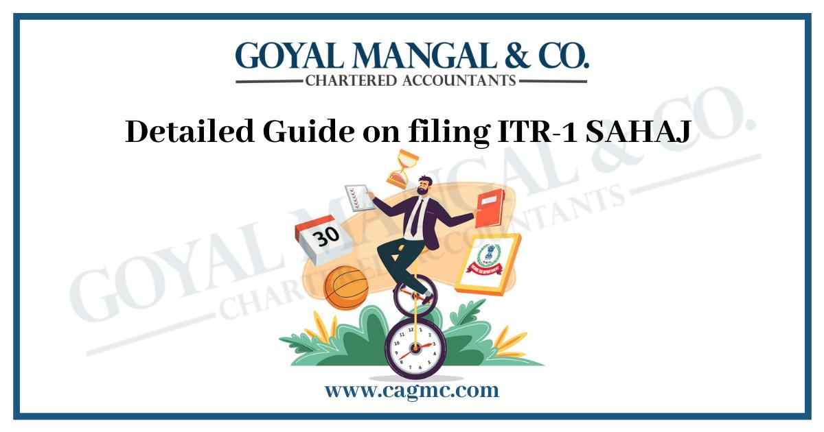Detailed Guide on filing ITR-1 SAHAJ