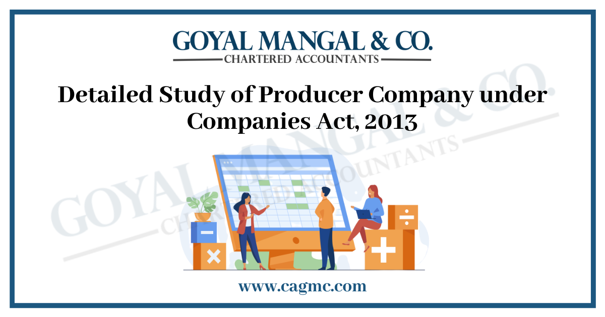 Detailed Study of Producer Company under Companies Act, 2013 in Jaipur