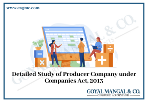 Detailed Study of Producer Company under Companies Act, 2013